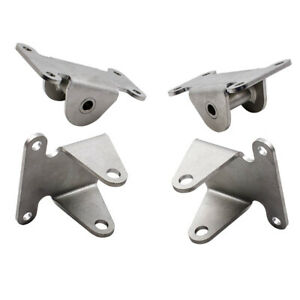 Front 2x Engine Motor Mount 2x Frame Mount Set For Small Block Sbc Chevy