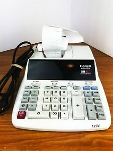 Canon Mp25dv 12 Digit Printing Calculator With Clock And Calendar