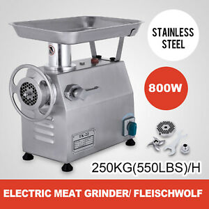 250kg h Electric Meat Grinder Stainless Steel Meat Mincer 550lbs h