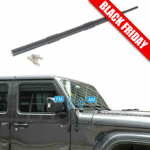 13inch Stubby Reflex Antenna Replacement For 07 19 Jeep Wrangler Jk Jl Rubber
