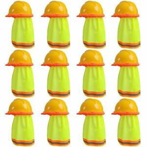 Ruisita 12 Pack Hard Hat Sun Shade Neck Shield High Visibility Mesh With Refl