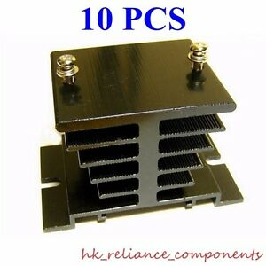 10 Pcs Aluminum Heat Sink Thick Material For 10a Solid State Relay 130g 4 6oz