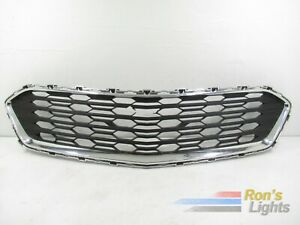 2016 2017 2018 Chevy Cruze Front Bumper Lower Grille W Chrome Trim Oem Used