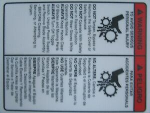 Hobart 403 Tenderizer Warning Sticker Decal For Safty Cover