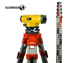 Topcon At b4a Automatic 24x Auto Level Surveying Tripod And Rod Included Usa