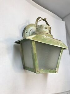 Vintage Mid Century Porch Wall Sconce Light Fixture Old Antique Outdoor Lantern
