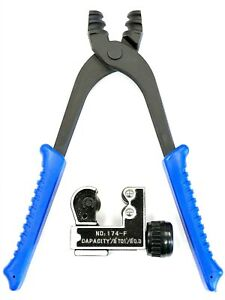 Automotive Brake Line Pliers For 3 16 1 4 Tubing Includes A Tube Cutter