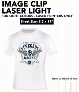 Image Clip Laser Light Heat Transfer Paper 8 5 X 11 100 Sheets