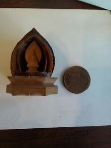 Rare Chinese Antique Hand Carved Walnut Buddha Monks Folk Art Wood Whimsies