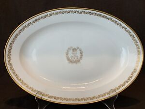 Louis Philippe Sevres Service Des Princes 16 1 2 Serving Platter Gold Leaves