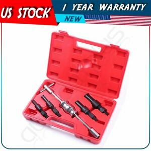 5pc Blind Hole Slide Hammer Pilot Bearing Internal Extractor Removal Tool Kit