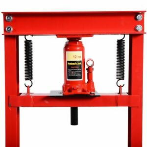 K N356 Press Hydraulic Jack Stand 12 Ton H Frame Commercial Professional Home Us