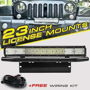 23 2256w Led Light Bar bull Bar Front Bumper License Plate Mount Bracket 20 22
