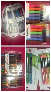 Mix Lot New Gel Pens High Lighters Markers Office Depot Foray Tul