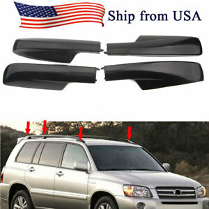 4pcs Roof Rack Rail End Cover Shell Replace For Toyota Highlander Xu20 2001 2007