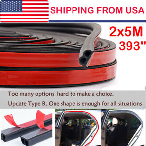 32ft B Shape Type Trim Rubber Strip Universal Car Door Edge Seal Weather Strip