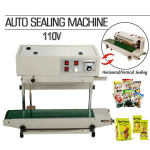 110v Frame Continuous Automatic Sealing Machine Band Sealer Plastic Bag Film