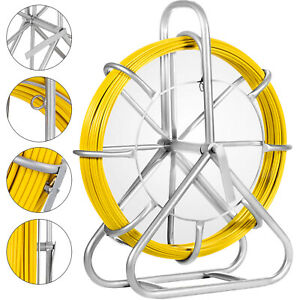 6mm X 425 Fish Tape Fiberglass Wire Cable Pulling Wire Puller Kit Running Rod