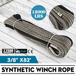 82ft 3 8 Synthetic Winch Rope Winch Cable Fiber Heavy Loading Lightweight