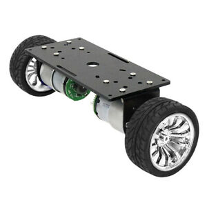 Two wheel Smart Robot Car Chassis With High Precision Motor Diy Kit Silver