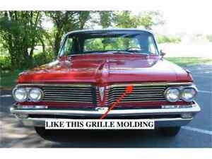 Nos Pontiac 1962 Bonneville Catalina Star Chief Over The Grille Molding Lh