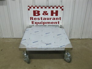 Delfield 27 Heavy Duty Mobile Stainless Steel Equipment Stand Base Table 2 3