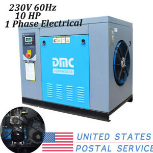 Hpdmc 1 phase 230v 10 Hp Rotary Screw Air Compressor Npt outlet G 3 4 115psi Us