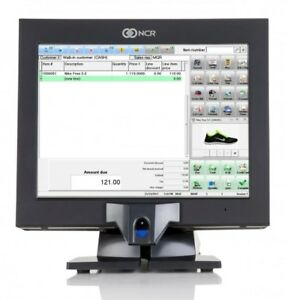 Ncr P1530 Pos Touchscreen Terminal 7754 W new Glass biometric 120gbssd windows 7