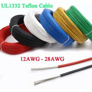 12 28awg Ul1332 Fep Stranded Cable Wire 12 13 14 16 18 20 22 24 26 28 Awg 9color