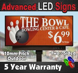 Sale Double Sided Full Color Led Sign 4 X 7 10mm Outdoor Display Made In_ Usa