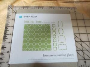 New Nib Lifestyle Crafts Letterpress Everyday Printing Plates More Available