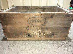 Vintage Wooden Shipping Crate Apexior 1 The Dampney Co Of America Boston Mass