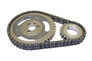 Fits Chevy Sbc 283 305 307 327 350 5 7l 400 Hd Double Roller Timing Chain Set