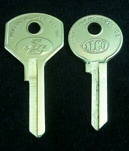 1125h 1125c Ford Lincoln Mercury Ignition Door Trunk 2 Key Blank Set 1939 51