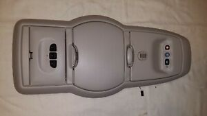 02 07 Buick Rendezvous Overhead Console Storage Homelink Holder Light Gray Oem