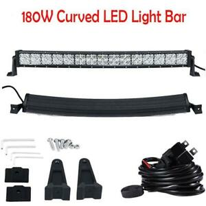 Auxbeam 32 inch 180w Cree Drl Led Light Bar Spot Flood Beam Offroad Driving 4wd
