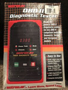 Actron Obd Ii System Tester 9615 Cp9035 Diagnostic Codes Domestic European Asian
