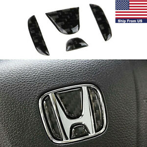 Carbon Fiber Car Steering Wheel Cover Sticker Trim For Honda Civic Gen 2016 2017