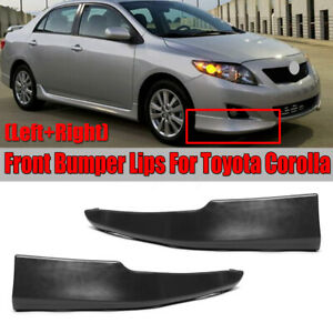 For 09 10 Toyota Corolla S Factory Style Body Kit Front Bumper Lips L r 2pcs