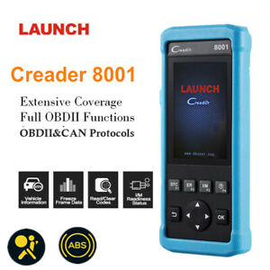 Launch Creader Cr8001 Obdii Obd 2 Auto Car Scanner Engine Abs Srs Epb Oil Reset
