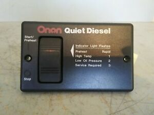 Onan Quiet Diesel Generator Remote Start And Stop Switch Panel 300 495303h