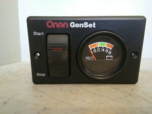 Onan Genset Start stop Switch And Volts Panel 300 495201 319 3082