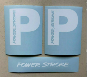 Powerstroke 4 Set Of 3 Truck Ford Diesel Multi color Vinyl Decal Sticker