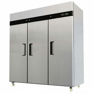 Mbf8003 T Series 3 Three Door Commercial Stainless Steel Freezer 1 25hp Comp
