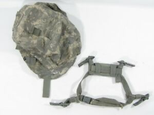 Authentic ACH L-XL ACU Cover & Chinstrap Harness Military NO HELMET