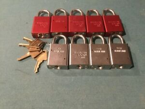 American Lock Padlock 5100 1105 Series Solid Steel 9 Locks Keyed Alike