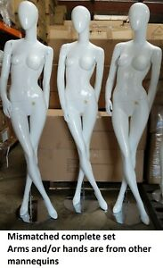 Used Mn bc 1pc Only Glossy White Female Mannequin Local Pickup Los Angeles