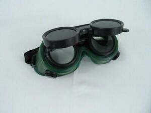 Lot Of 2 Flip up Vintage Style Steampunk 5 Welding Grinding Safety Goggles