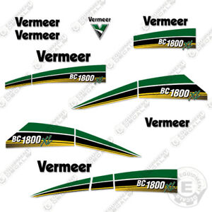 Vermeer Bc 1800 Xl Decal Kit Brush Chipper Replacement Stickers