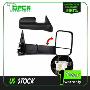 Mirrors For 02 08 Dodge Ram Truck Power Heated Side Towing Mirrors Pair Set New